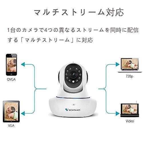 ネットワークカメラ wifi カメラワイヤレス 高画質 100万画素 SDカード録画 赤外線暗視 双方向音声 防犯・監視・遠隔見守りカ heiman 05