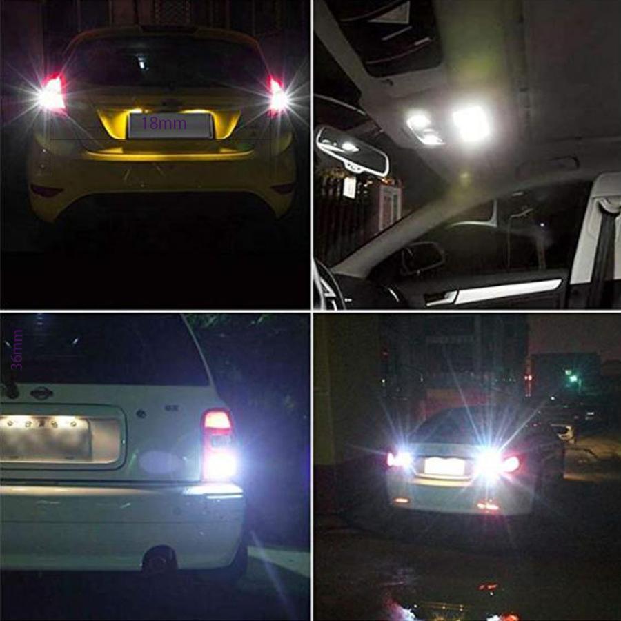 S25 シングル球 12V-24V 超高輝度LED ホワイト ピン角180度 54連 LEDバルブ  車用トラック用品  ウインカー バックランプ 10個セット|heiman|07