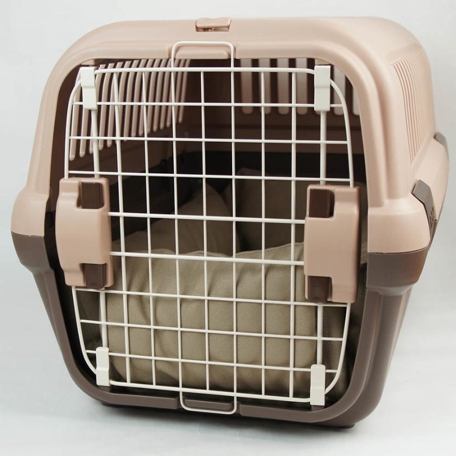 ホリホリ・カミカミ大好きちゃん用 8号帆布生地 キャリークッションベッド モカ色 Mサイズ|helens-petbed|04