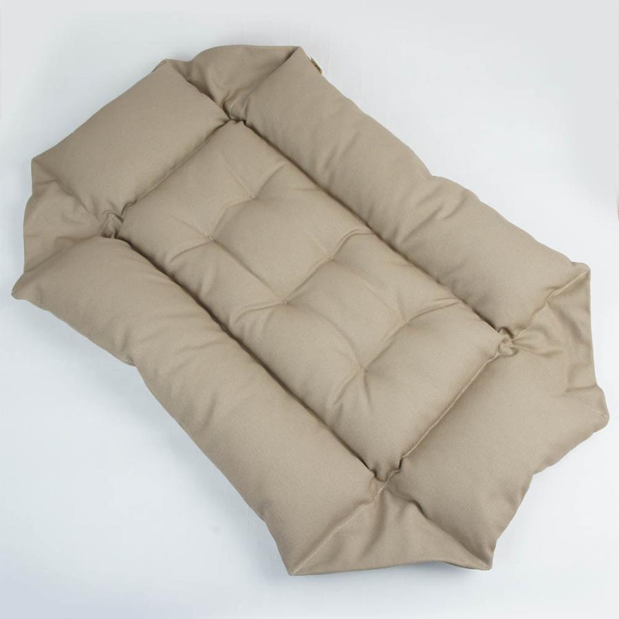 ホリホリ・カミカミ大好きちゃん用 8号帆布生地 キャリークッションベッド モカ色 Mサイズ|helens-petbed|05