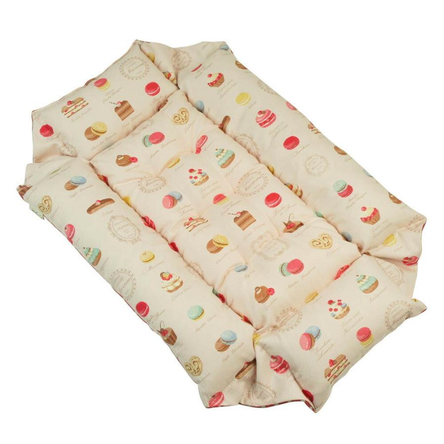 ペットが喜ぶ キャリークッションベッド マカロンピンクドット Sサイズ|helens-petbed|06