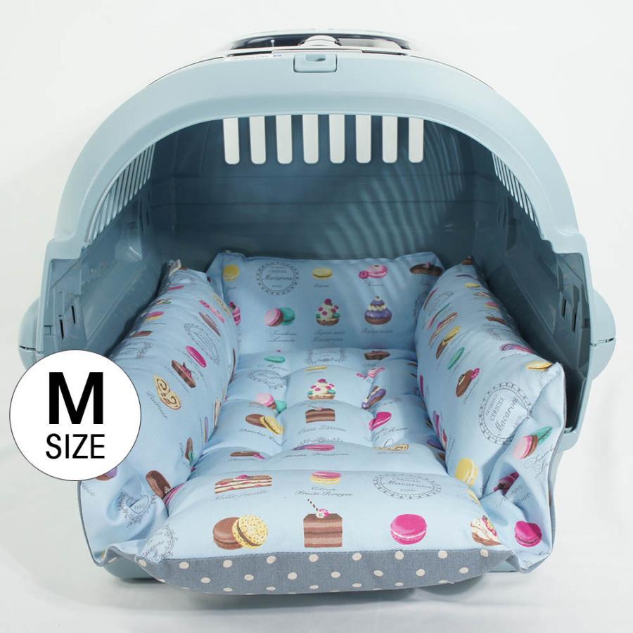 ペットが喜ぶ キャリークッションベッド マカロンブルードット Mサイズ|helens-petbed