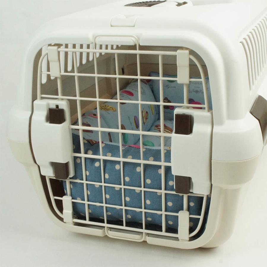 ホリホリ・カミカミ大好きちゃん用 8号帆布生地 キャリークッションベッド モカ色 Sサイズ helens-petbed 05