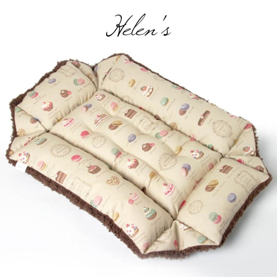 ペットが喜ぶ キャリークッションベッド マカロンベージュファー Sサイズ|helens-petbed|05