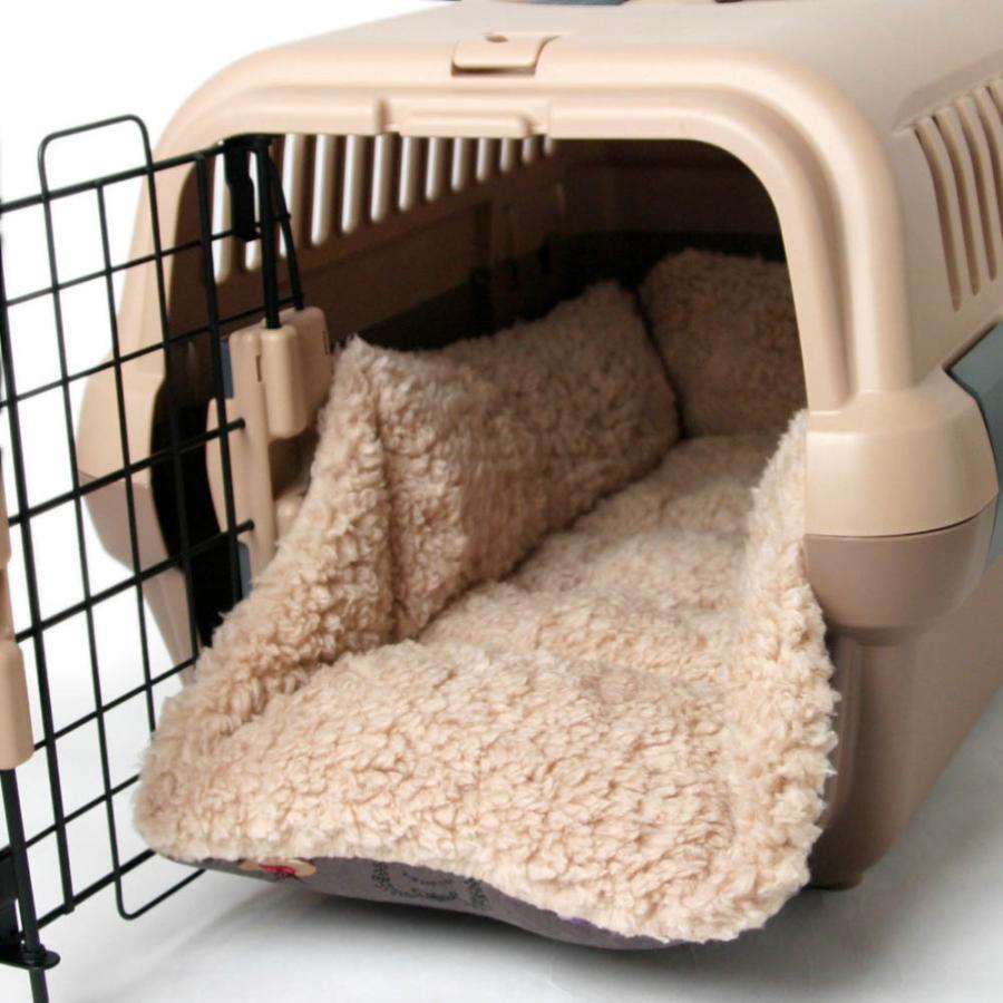 ペットが喜ぶ キャリークッションベッド マカロンチョコファー Sサイズ|helens-petbed|04