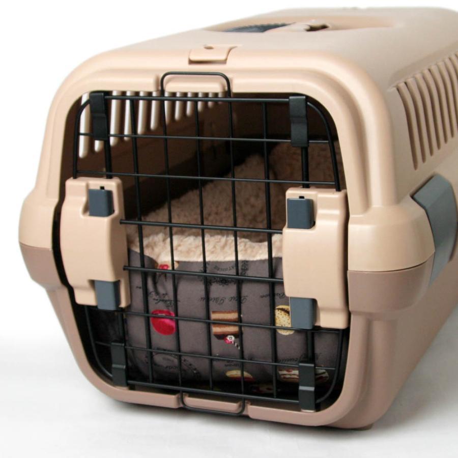 ペットが喜ぶ キャリークッションベッド マカロンチョコファー Sサイズ|helens-petbed|05