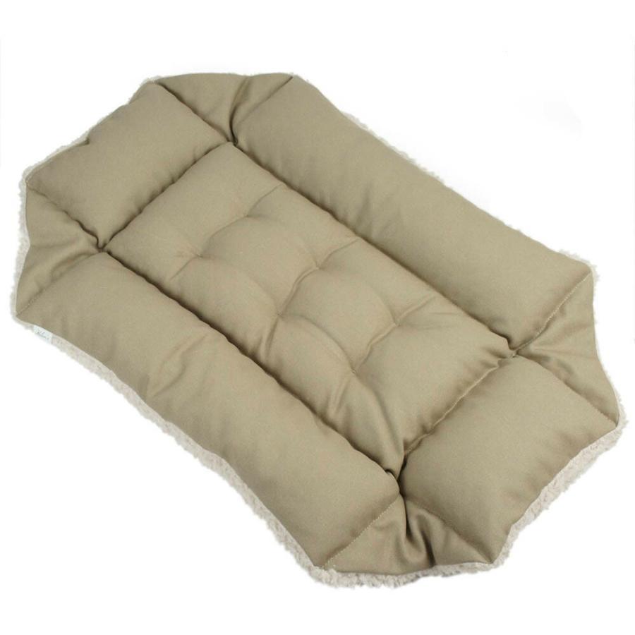ホリホリ・カミカミ大好きちゃん用 8号帆布生地 キャリークッションベッド モカファー Mサイズ|helens-petbed|05