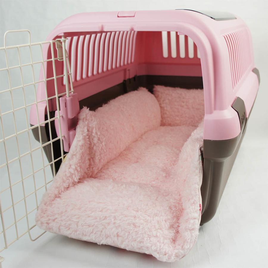 ペットが喜ぶ キャリークッションベッド マカロンシャービーピンクファー Mサイズ helens-petbed 04