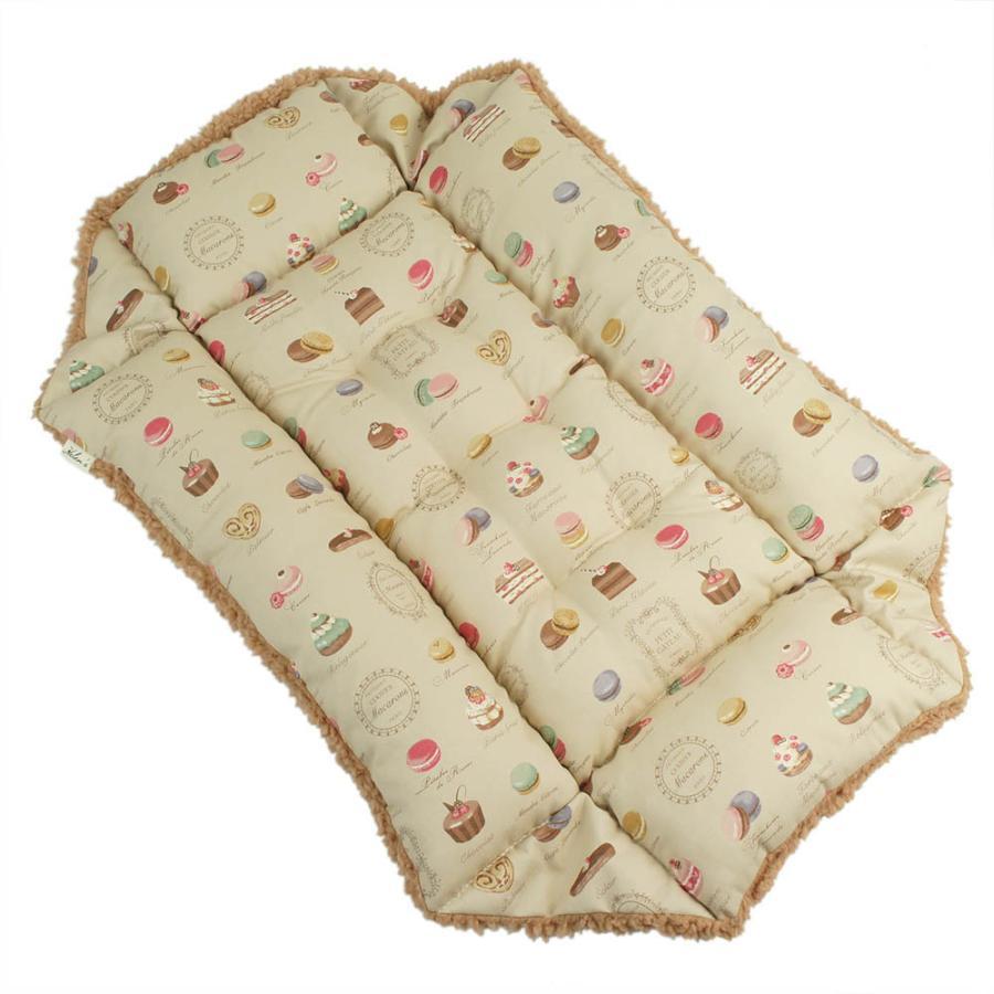 ペットが喜ぶ キャリークッションベッド マカロンベージュファーキャメル Mサイズ helens-petbed 06