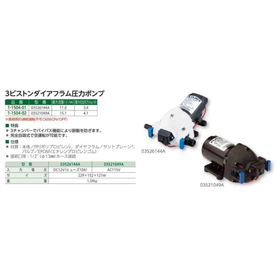 3ピストンダイアフラム圧力ポンプ 11000mL/min 3526-144/1-1504-01