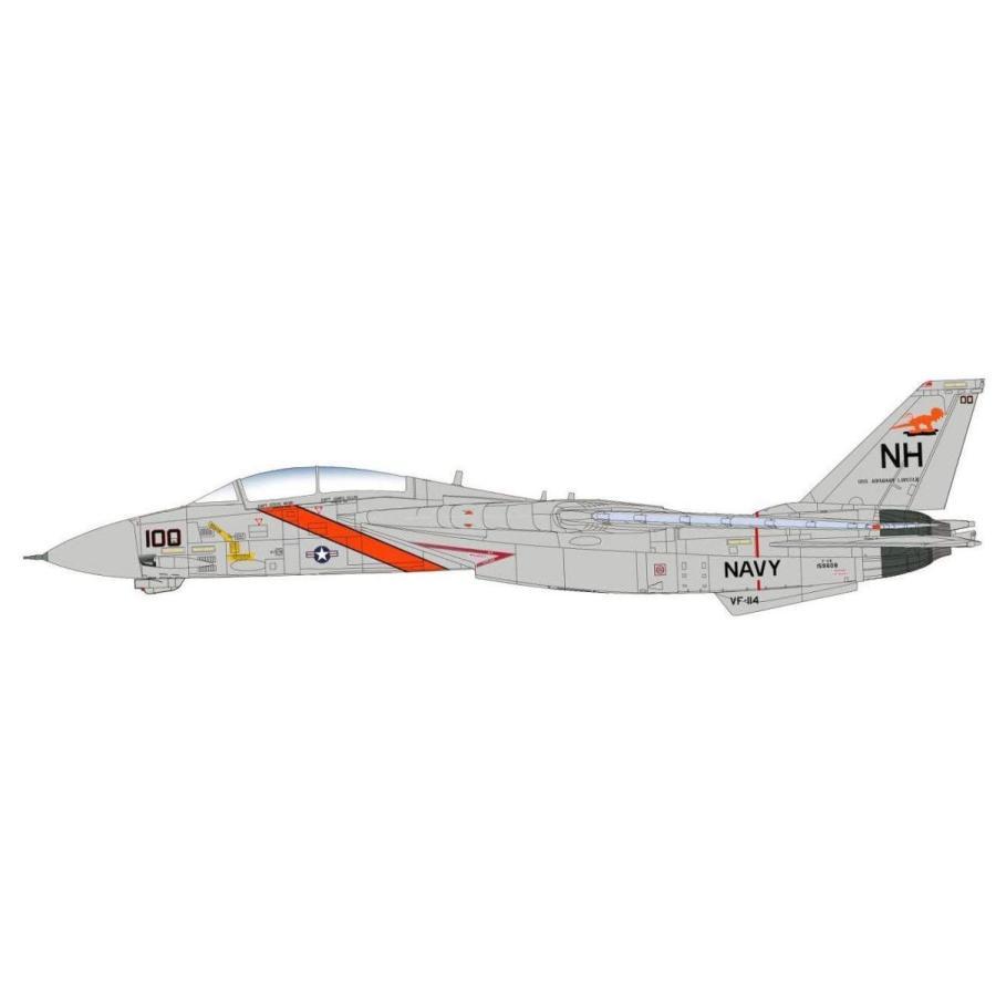 ホビーマスター 1/72 F-14A トムキャット 第114戦闘飛行隊 アードバークス 完成品