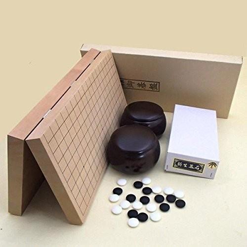 囲碁セット 新桂10号折碁盤と新生碁石竹とABS別注碁笥茶のセット