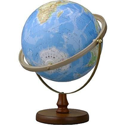 地球儀N26-6R(地勢・全方位回転)