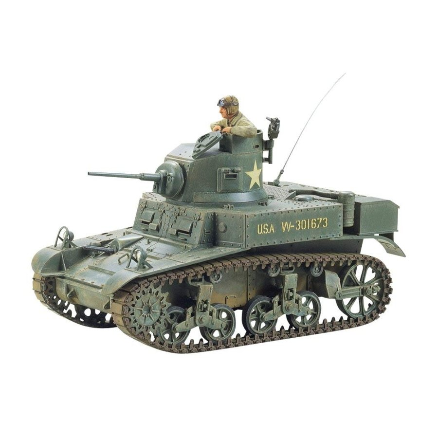タミヤ 1/35 ミリタリーミニチュアシリーズ No.42 アメリカ陸軍 M3 スチュアート 軽戦車 プラモデル 35042