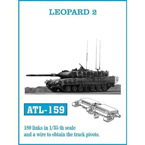 フリウル ATL-159 1/35 レオパルド2 ホワイトメタル製可動履帯(キャタピラ)