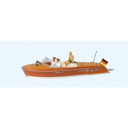 プライザー モーターボートのクルーと乗客(リーヴァ アリストン) 塗装済完成品 HO(1/87) 10688
