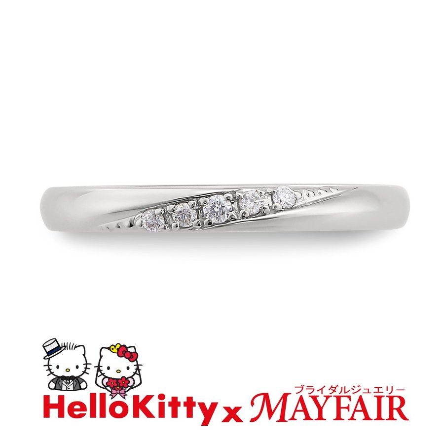 人気が高い  ハローキティの結婚指輪 マリッジリング レディース ロンドン・アイ K18 ホワイト・ピンク・イエロー, 岡山市 34f4ced7