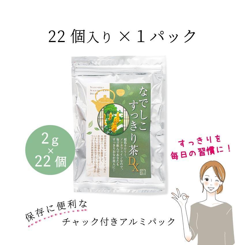 【12時まで当日出荷!】なでしこ すっきり茶DX 1パック 500円OFF  無添加ハーブティーで毎朝すっきり! ノンカフェイン 日本製 送料無料 herb-labo 01