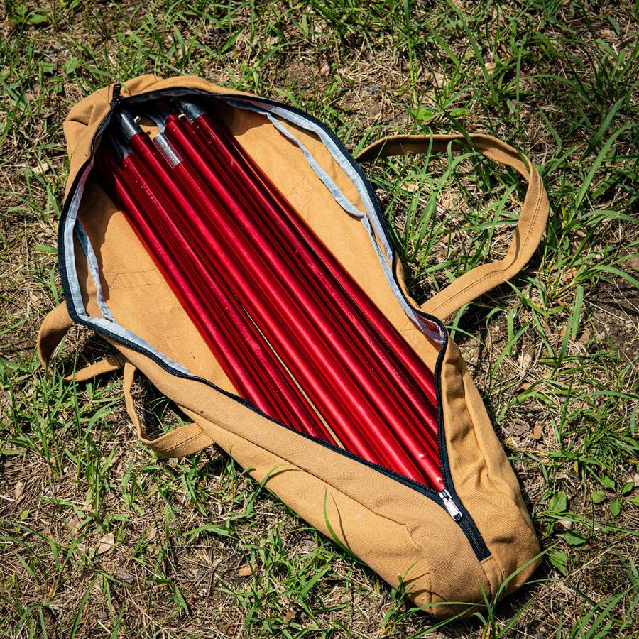 Naturehike ポールケース Mサイズ タープポール 収納バッグ アウトドア 用品 キャンプ 帆布 hermanherman 03