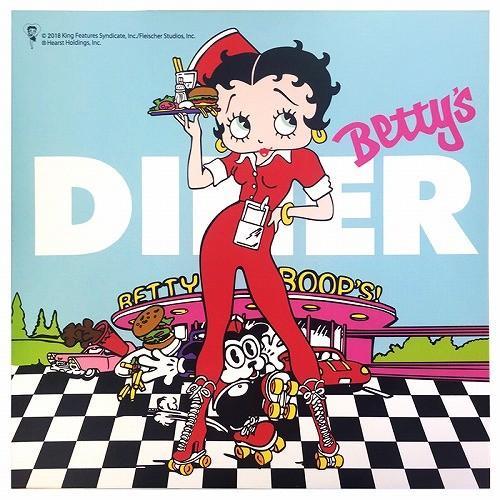 Betty Boop ベティブープ Led キャンバス ライトボックス Diner