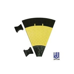 JEFCOMジェフコム ケーブルプロテクター ジョイントプロテクター(マルチ連結タイプ) 曲線部 470×535×50mm JTP-5435-45 キャンセル返品不可 同梱不可