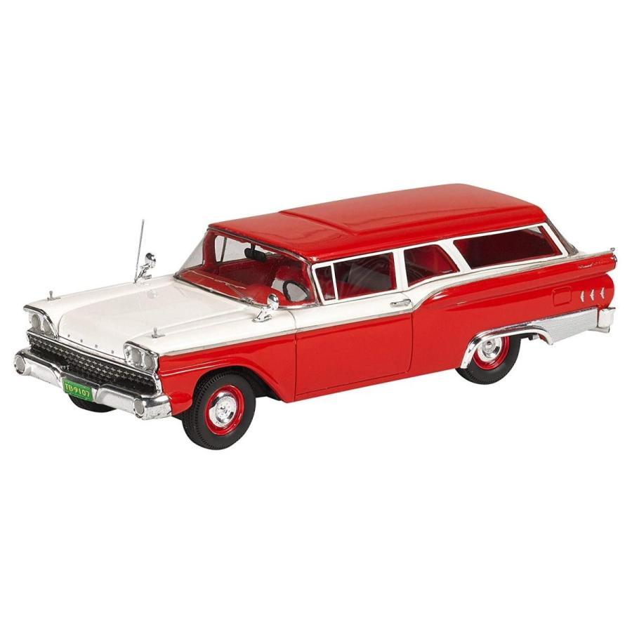 GENUINE 1/43 フォード ランチ ワゴン 1959 レッド/ホワイト 完成品