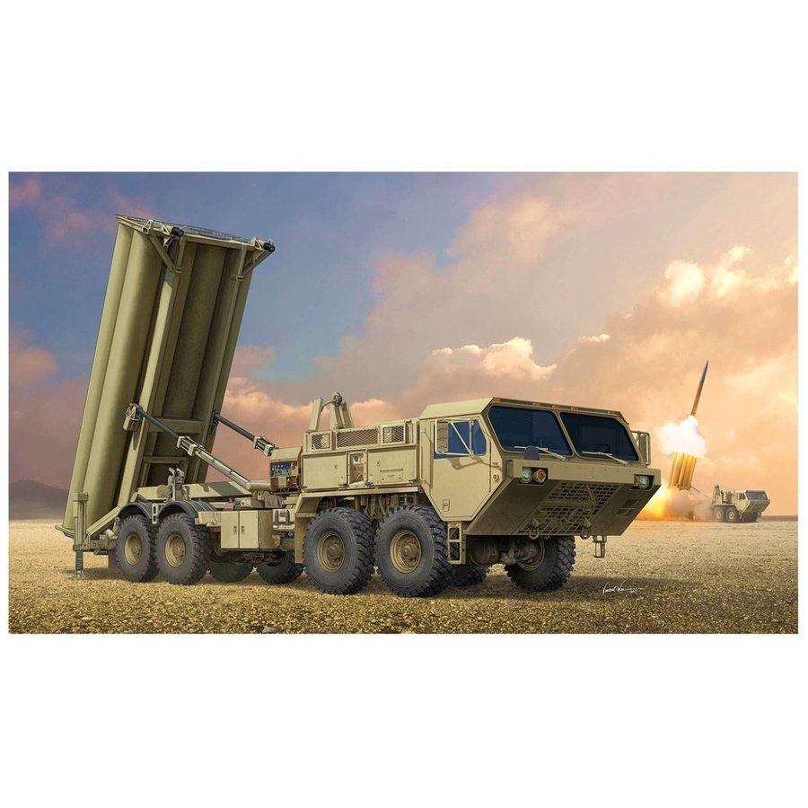 トランペッター 1/35 アメリカ陸軍 THAAD 弾道弾迎撃ミサイルシステム プラモデル 01054