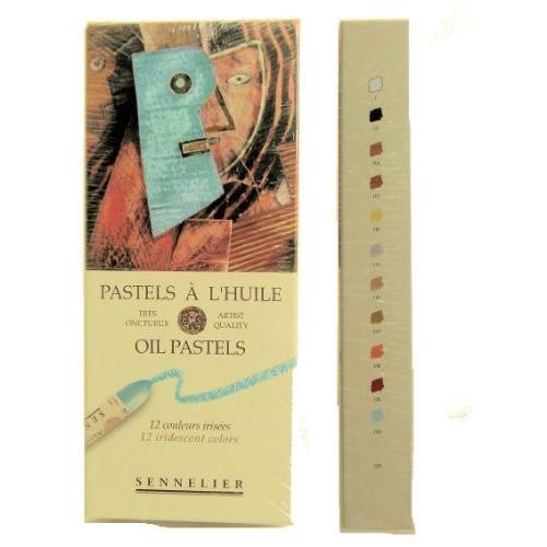 セヌリエ オイルパステル 12色セット パール色
