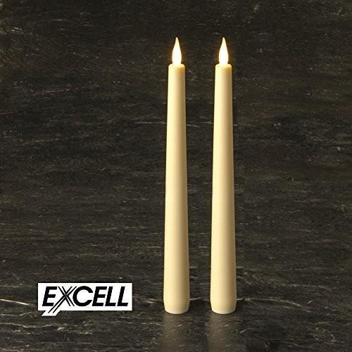 smartcandle-LEDテーパーキャンドルセット・ストレートシリコンテーパー/2本