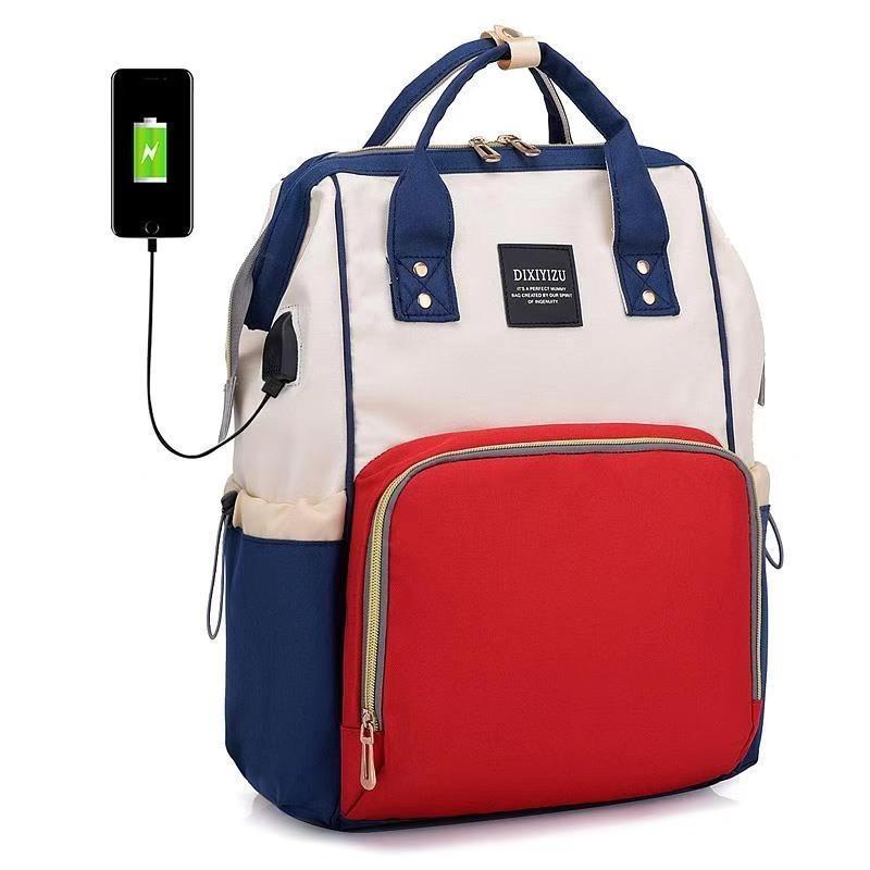 マザーズバッグ  リュック マザーズバッグ バックハンガー セット リュック ママバッグ 大容量 保温・保冷バッグ レディース 多機能 USBポート付|hfs05|09