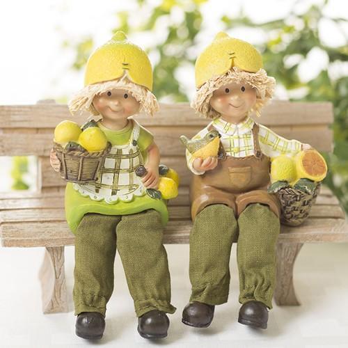 おすわり妖精 レモン  (2個組)  妖精 フェアリー ガーデニング ガーデン インテリア 小人|hgpkaruizawa