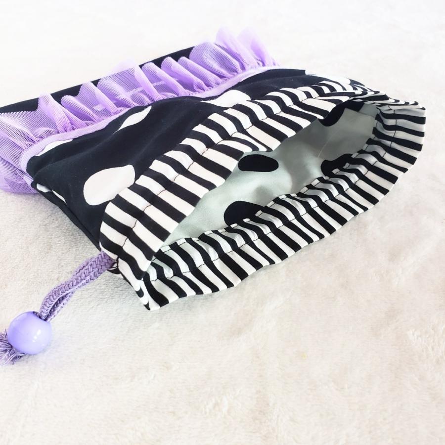 パープルフリルとモノクロのスタイリッシュなコップ歯ブラシ入れ 【サイズ変更可】DM便送料無料|hi-inari|04