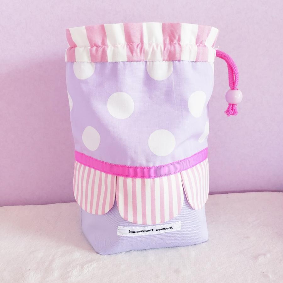 スカラップのコップ歯ブラシ袋  pink×purple サイズ変更可能 ポスト投函送料無料|hi-inari|03