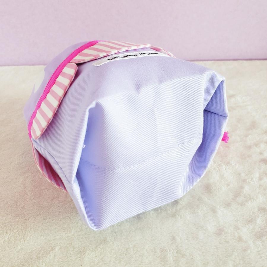 スカラップのコップ歯ブラシ袋  pink×purple サイズ変更可能 ポスト投函送料無料|hi-inari|04