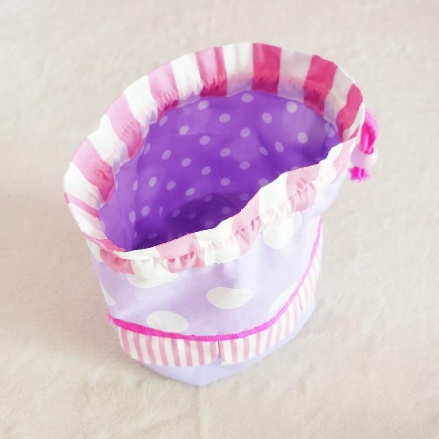 スカラップのコップ歯ブラシ袋  pink×purple サイズ変更可能 ポスト投函送料無料|hi-inari|05