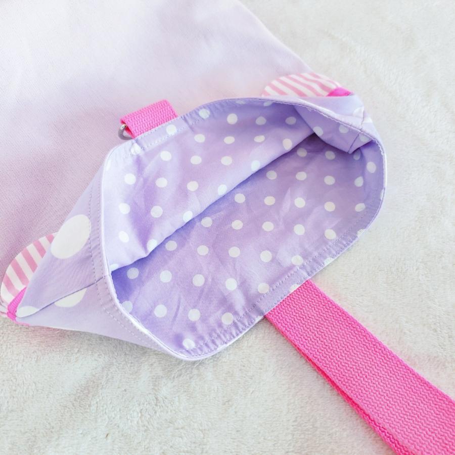 【3点セット】帆布とスカラップの●レッスンバッグ●シューズケース●体操服入れ pink×purple サイズ変更可能|hi-inari|13