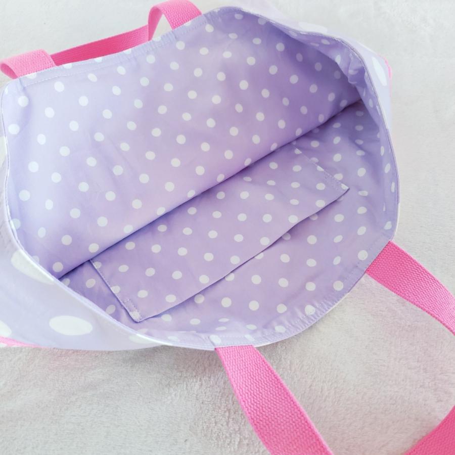【3点セット】帆布とスカラップの●レッスンバッグ●シューズケース●体操服入れ pink×purple サイズ変更可能|hi-inari|04