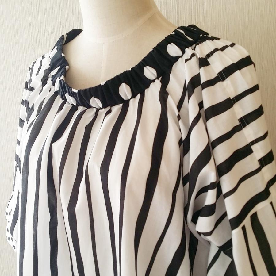 ストライプ綿ローンのトップスカート・2way(受注製作) hi-inari 02