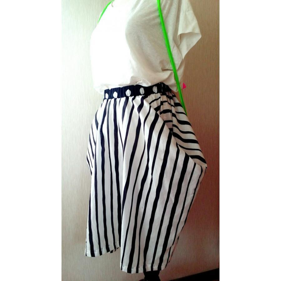 ストライプ綿ローンのトップスカート・2way(受注製作) hi-inari 04