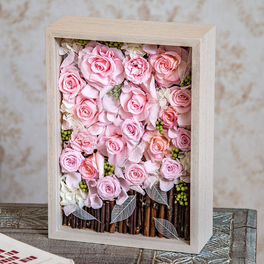母の日 押し花フレームアート 「Joie-ジョワ-」  日比谷花壇