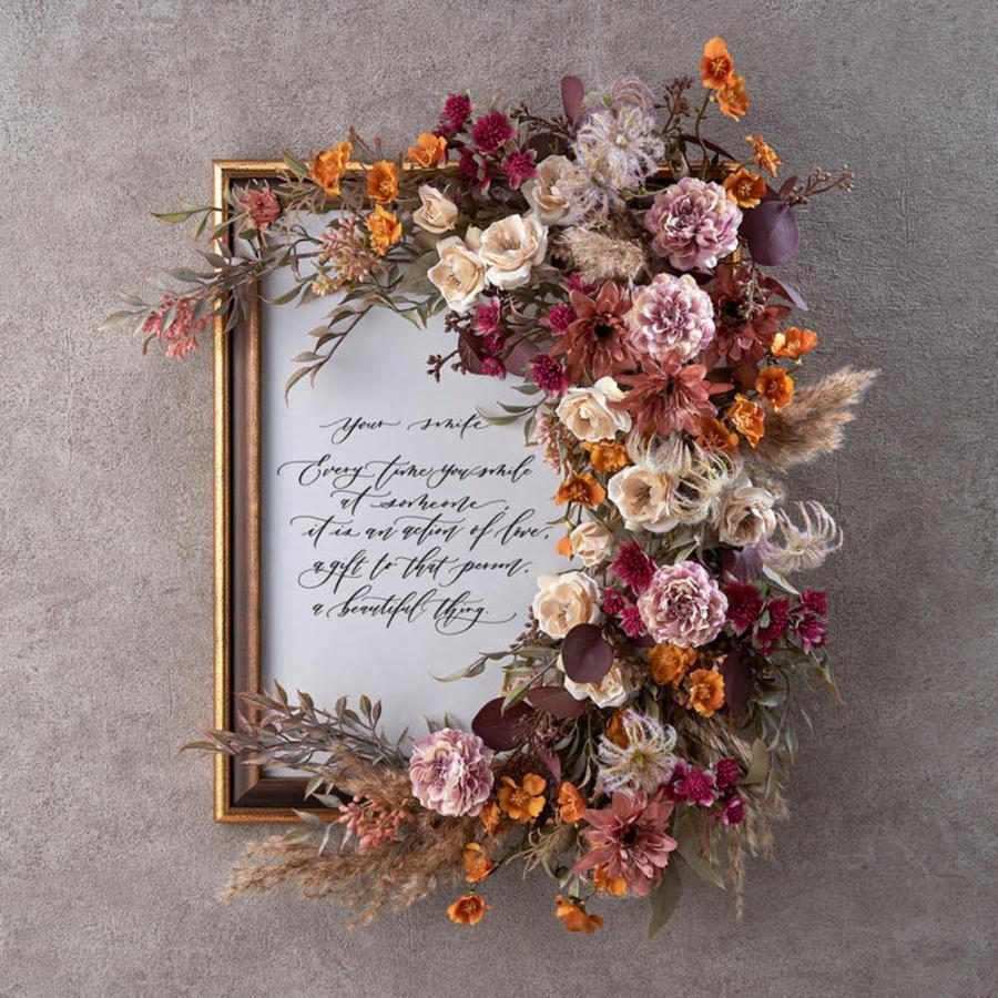 誕生日 お祝い 花 デザイナーズアーティフィシャルフレーム「フロラージュ」  日比谷花壇