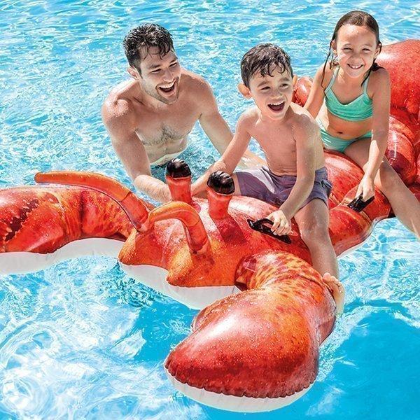 フロート ロブスターライドオン ビックフロート おもしろフロート ウォーターフロート うきわ プール 浮き輪 INTEX 2020モデル 海水浴 インテックス 川遊び 公式通販
