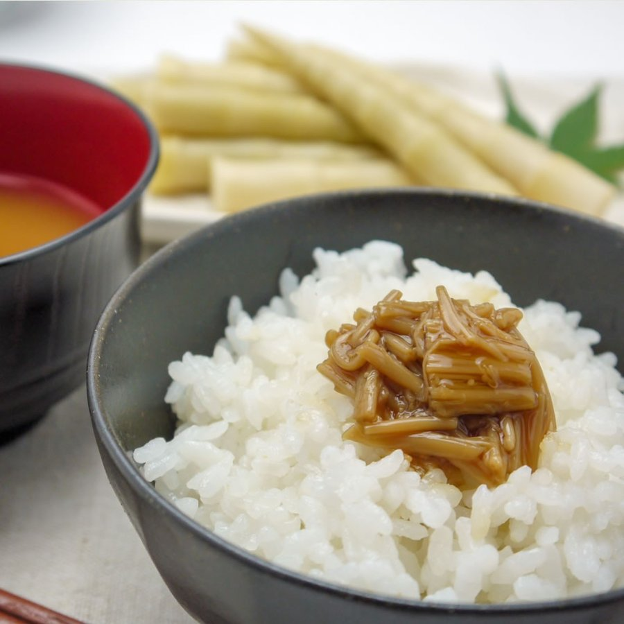 えのき茶漬 なめたけ 200g ご飯のお供 佃煮 国産 当店人気No.1|hida-yama-sachi|04