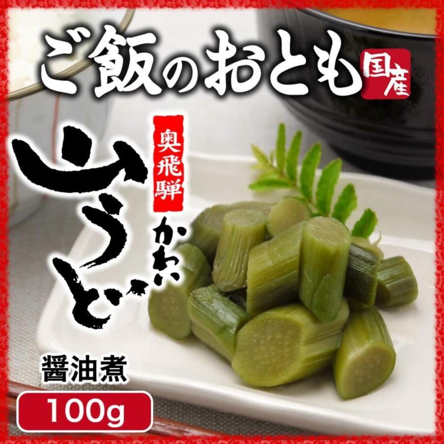 山菜 山うど醤油漬 100g ご飯のお供 国産 hida-yama-sachi