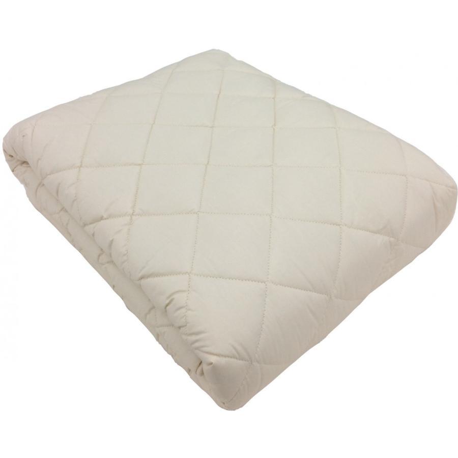ウールベッドパッド 二層式羊毛100% 厚手タイプ ワイドダブル 日本製