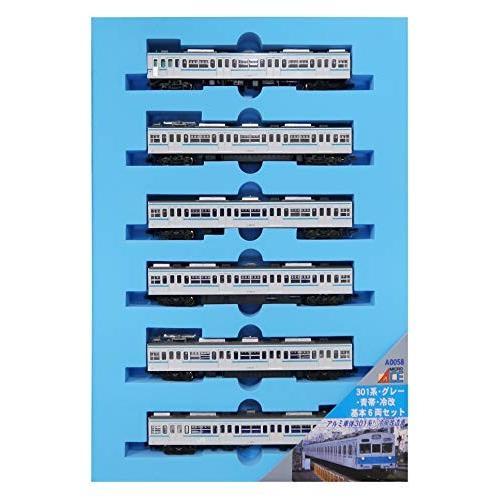 マイクロエース Nゲージ 301系 グレー 青帯 冷改 基本6両セット A0058 鉄道模型 電車
