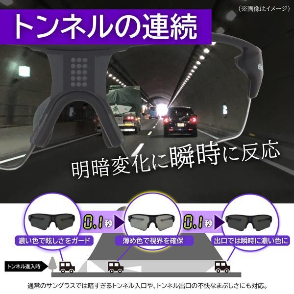 瞬間調光サングラス 色が変わる 偏光 トンネルの運転 ドライブ トラック イーシェード e-Shades|hidetora|07