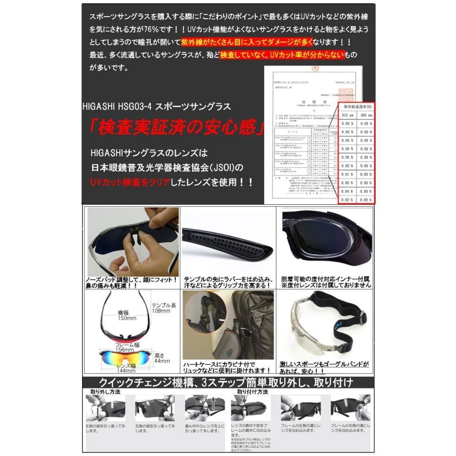 サングラス スポーツサングラス 偏光 サングラス スポーツ UVカット メンズ レディース ゴルフ サイクリング 野球 HSG03-4|higashi-corp|09