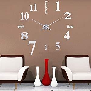 ウォールクロック 壁時計 おしゃれ 今季も再入荷 DIY インテリア 手作り シルバー 買い取り シンプル