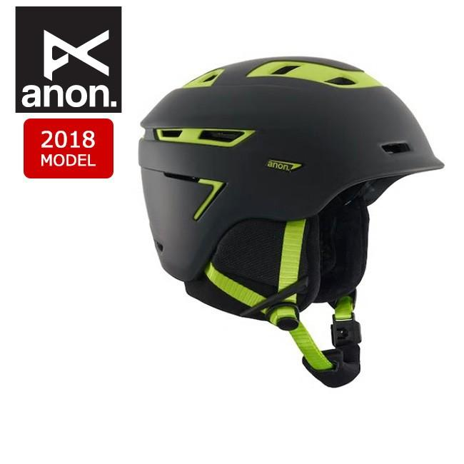 2018 anon アノン ヘルメット ECHO CRACKED 黒 【スノー雑貨】日本正規品 メンズ